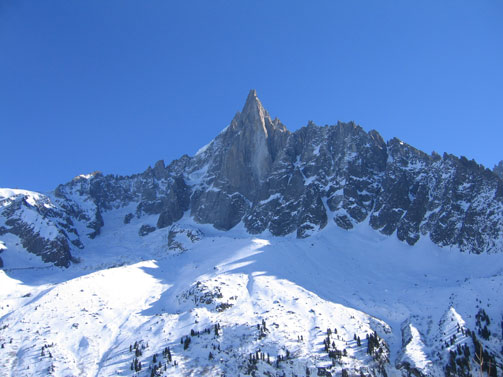 Le Dru Mountain in Chamonix