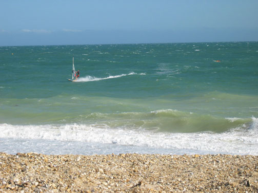 Shoreham (Funktion One's closest windsurfing beach)
