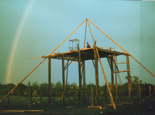 Building the first Pyramid Stage at Glastonbury 1981