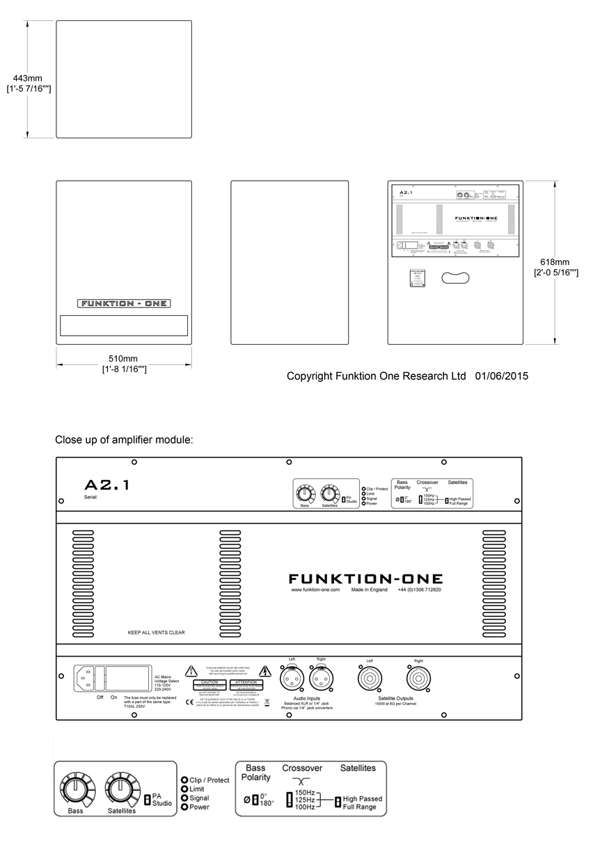 SB210A Technical Drawing